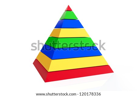 Abstract colorful pyramid on a white background