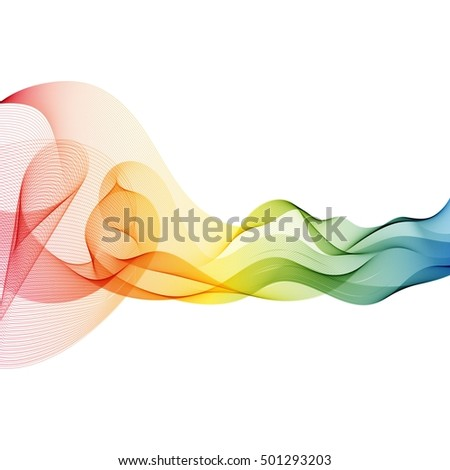 Abstract colorful rainbow wave background.