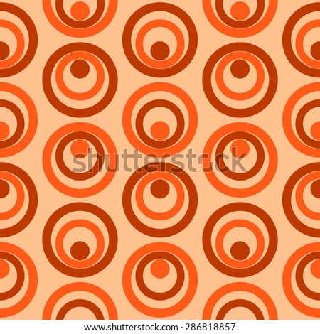 Abstract Colorful Retro Circles Seamless Pattern Ilustration