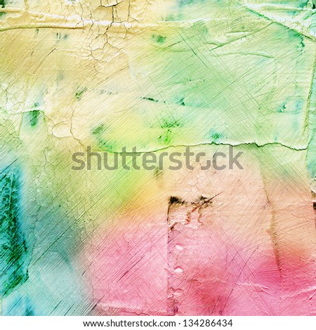Abstract colorful scratched background - stock photo