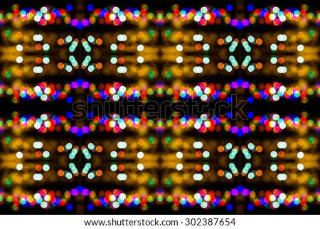 abstract colorful seamless pattern kaleidoscope made from  circular bokeh for use at graphic design