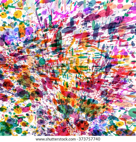 Abstract colorful splash background. Watercolor background illustration. - stock photo