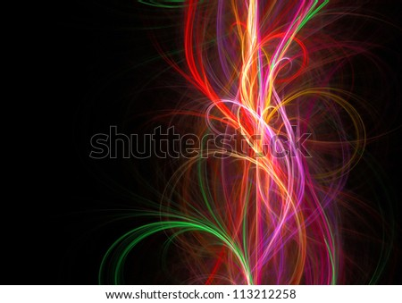 abstract colorful swirls background texture - stock photo