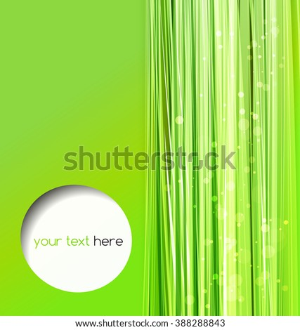 Abstract colorful vector template background. Green lines.