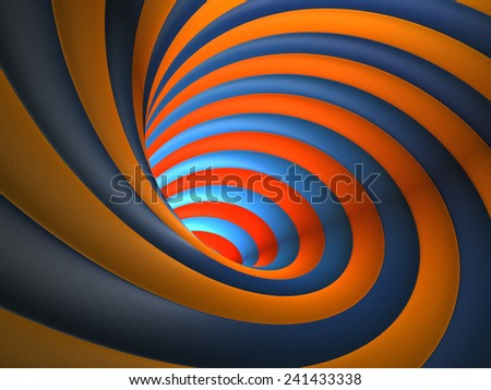 Abstract Colorful Vortex Background - stock photo
