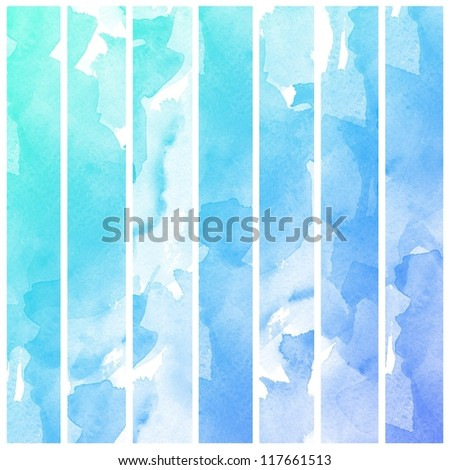 Abstract colorful water color art background hand paint