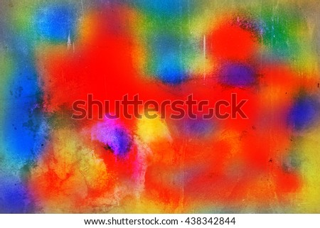 Abstract colorful water color on background