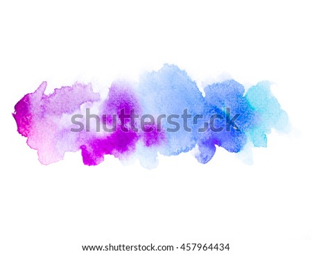 Abstract colorful watercolor hand paint texture, isolated on white background for textures, design art work, skin product or text and backgrounds.