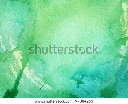 Abstract colorful watercolor is on a paper background. - stock photo