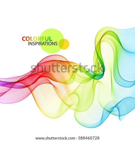Abstract colorful wave background. transparent smoke lines.