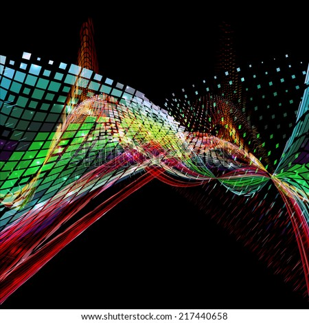 Abstract colorful wave form background. Futuristic concept. - stock photo