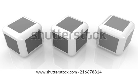 Abstract colorfull blocks 3d - stock photo