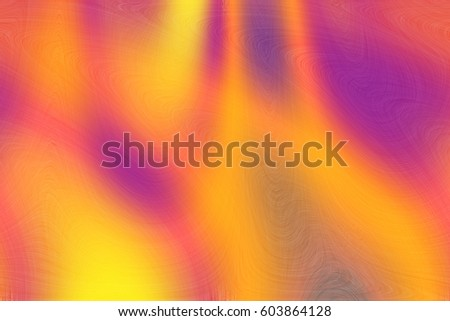 Abstract colors and curves background in yellow and purple paint