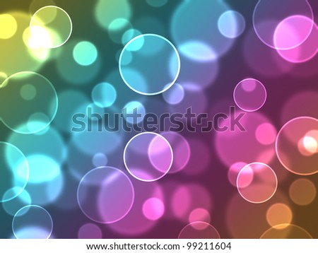 Abstract colourful bubbles. Holiday soft background with color circles. - stock photo