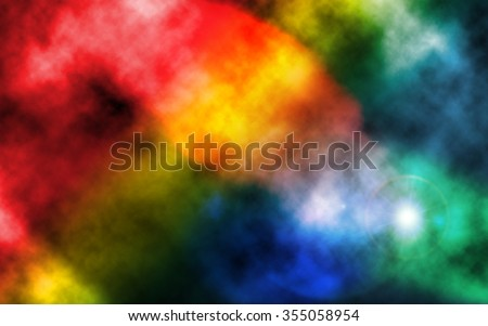 Abstract Colourful tie dye fabric pattern background - stock photo