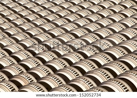 Abstract composition of building surface - stock photo