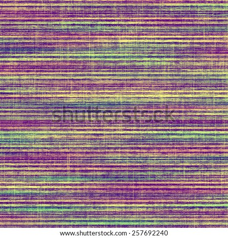 Abstract composition on textured, vintage background with grunge stains. With different color patterns: yellow (beige); purple (violet); green; blue - stock photo