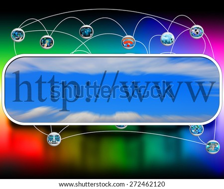 Abstract composition which shows the planet Earth and http - stock photo
