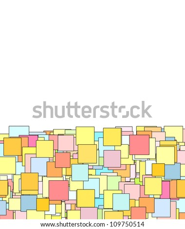 abstract composition with candy color square plane - stock photo