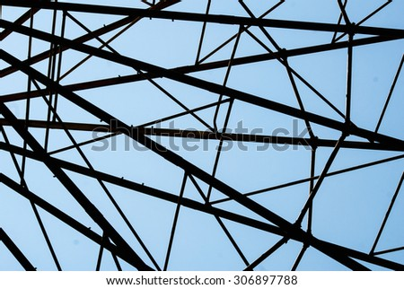 abstract composition with design of the Ferris wheel - stock photo