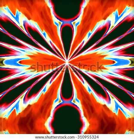 Abstract computer generated design. - stock photo