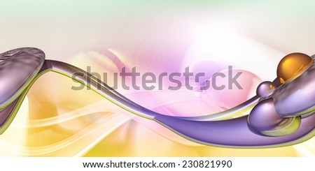 Abstract computer generated futuristic background - stock photo