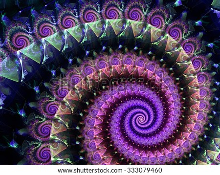 Abstract computer-generated image elegance colored spiral
