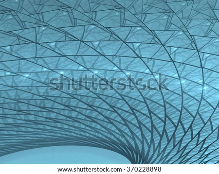 Abstract computer-generated image technology background geometric pattern with light effects - stock photo