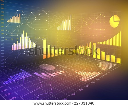 abstract computer graphics business financial statistics currency - stock photo