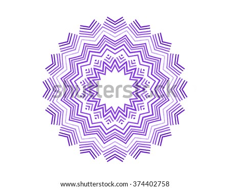 Abstract concentric shape on white background for design - stock photo