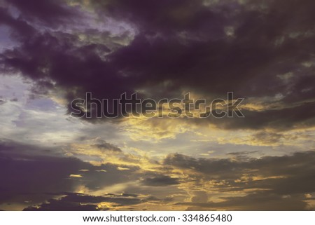 Abstract concept, sunset sky background
