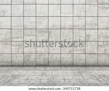 Abstract concrete block geometric background.