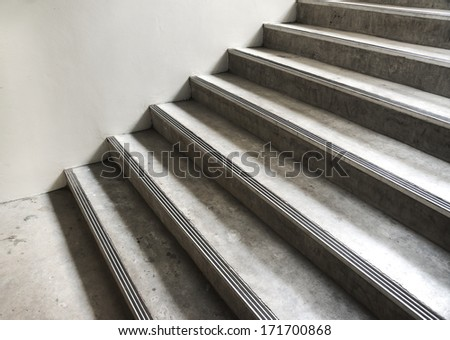 Abstract concrete building stairway