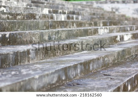 Abstract concrete building stairway composition - stock photo