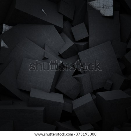 Abstract concrete surface 3d rendering. Futuristic abstract background concept. - stock photo