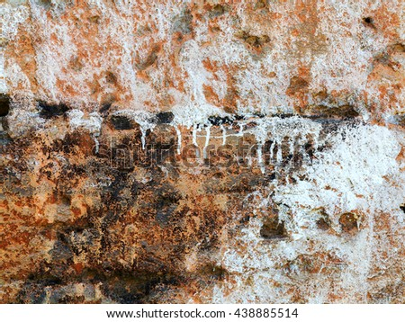 Abstract concrete, weathered with cracks and scratches. Landscape perspective style. Grungy Concrete Surface. Great background or texture. - stock photo
