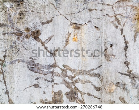 Abstract concrete, weathered with cracks and scratches. Landscape style. Grungy Concrete Surface. Great background or texture. - stock photo