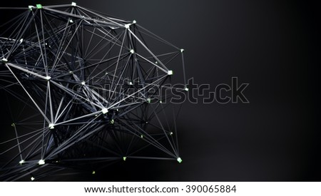 abstract connected shapes