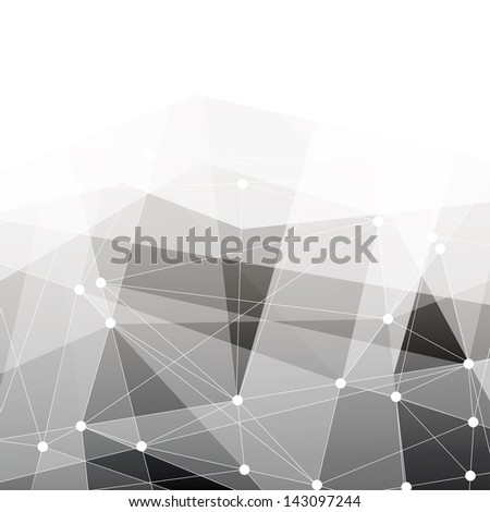 Abstract connections background with space for text. Raster version, vector file available in portfolio. - stock photo