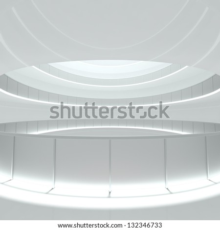 Abstract Construction Background - empty corridor - 3d illustration