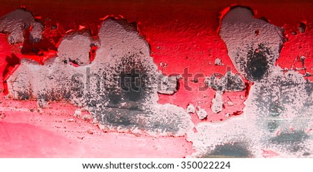 Abstract corroded colorful wallpaper crack grunge background iron rusty artistic wall peeling paint.