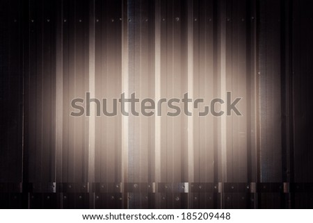 abstract corrugated metal use as background