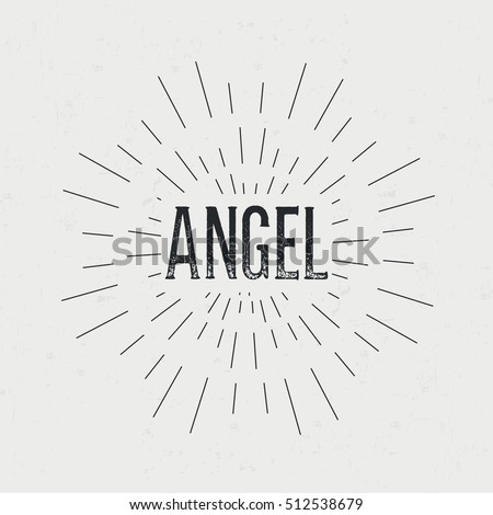 Abstract Creative Design Layout Text Angel Stock Illustration