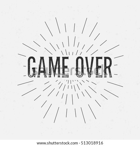 Abstract Creative Design Layout Text Game Stock Illustration - Game concept template