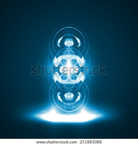 Abstract. Creative dynamic element, light lines Illustrations. - stock photo