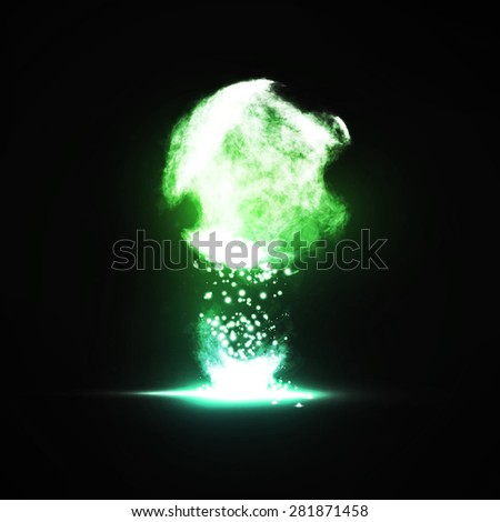 Abstract. Creative dynamic light element, futuristic art illustration - stock photo
