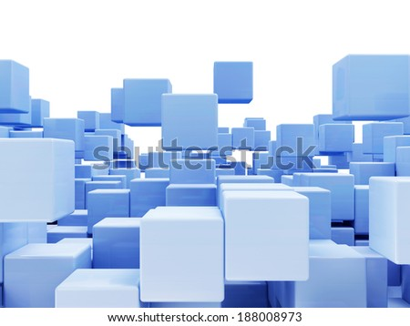 Abstract Cubes Background isolated on white background with place for Your text