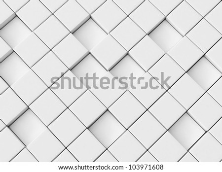 Abstract cubes 3d background - stock photo