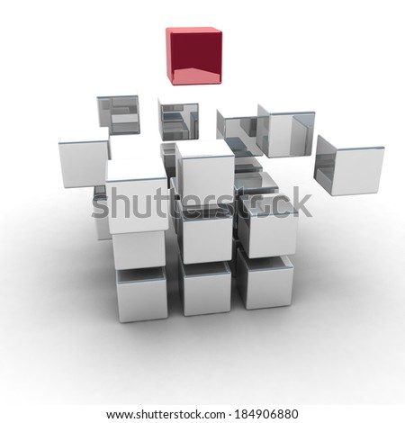 Abstract cubes structure
