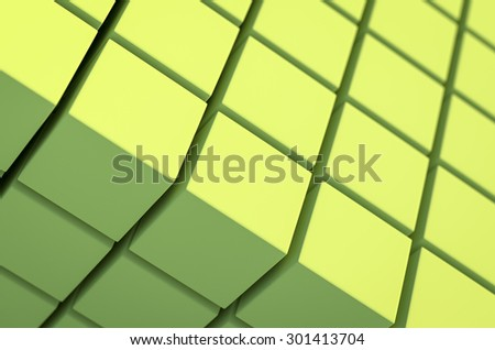 Abstract cubic geometric background for presentation  - stock photo